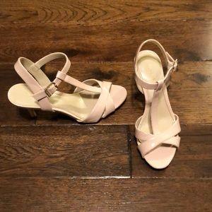 Calvin Klein light pink sandal heels